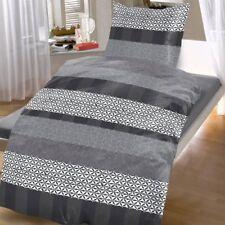 Bettwäsche Baumwolle WENDE Abstrakt Grau Übergröße 135x200 cm NEU