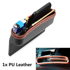 1x PU Leather Large Catch Catcher Box Caddy Car Seat Gap Slit Pocket Storage Box