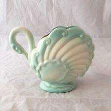 Swan Vase Planter Mid Century Ceramic Light Blue & White