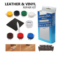 DIY Leather Vinyl Repair Kit Fix Holes Rips  Burns Upholstery Clothing Car Seats
