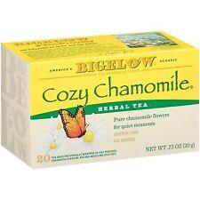 TEA BIGELOW COZY CHAMOMILE Herbal Plus PROBIOTICS (20 bags x 1 box) FREE Ship