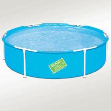 "My First Frame Pool 60""x15"" Mini Round Kids Wading Kiddie Swimming Pool Blue"