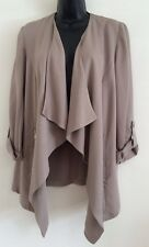 New Ex M&Co Taupe Smart Tailored Work Casual Day Blazer Jacket Size 12-16