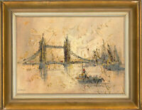 John Bampfield (b.1947) - Signed and Framed 20th Century Oil, Tower Bridge