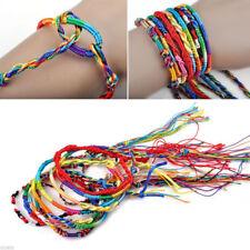 Lots 10Pcs Adjustable String Lucky Colorful Friendship Braid Handmade Bracelets