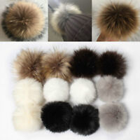 12Pcs Faux Fur PomPom Ball Fluffy Ball Pendant Accessories For Bags Hat Keychain