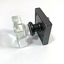 Metal Door Knob Clear Glass Square Handle Decorative Black Copper Color Craft