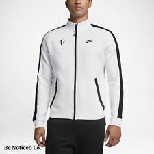 Nike NikeCourt Roger Federer Premier Men's Tennis Jacket S White Black Gym New