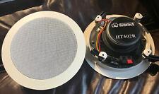 "Pair HOMETECH 5-1/4"" 2-Way In-Wall Ceiling Home Speaker Set HT502R Sonance"