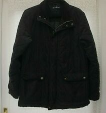 MENS COAT BY JAMES PRINGLE IN NAVY BLUE LOVELY CONDITION CORDED ELBOW PATCHE~S