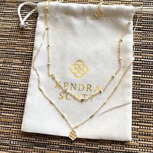 Kendra Scott Clove Gold Multi Strand Necklace NEW AUTHENTIC