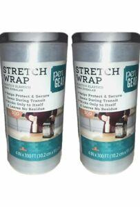 "Pen Gear( 2 )Plastic Stretch Shink Wrap Roll 4"" x 300'.  New... (1)"