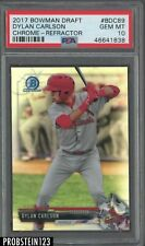2017 Bowman Chrome Refractor Dylan Carlson RC Rookie PSA 10 GEM MINT