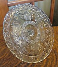 """EAPG CAKE STAND WITH FLOWERS 9.5"""""""