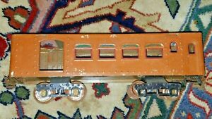 Ives Standard BUFFET PASSENGER Partial REPAINTED No roof HAS TRUCKS & COUPLERS