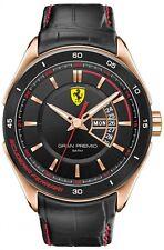 Nuevo SCUDERIA FERRARI 0830185 Para hombres Reloj de Oro Rosa Gran Premio - 2 Años De Garantía