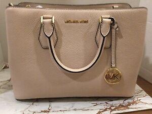 New Michael Kors Soft Pink Camille Large Satchel Tote Bag w/Dust Bag $358.00