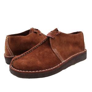 Men's Shoes Clarks Originals DESERT TREK Suede Lace Up Boots 61395 BURGUNDY
