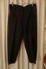 VINTAGE  ~ GEOFF RIDDELL ~ Black  Wool PANTS * Size 16/18 *
