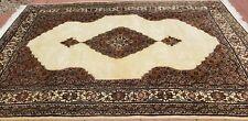 Ver Elegant ivory Oriental carpet wool Rug mahi design 9' x 6'