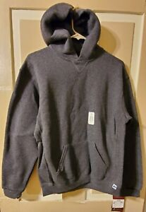 New Russell Athletic Fleece Pullover Hooded Sweatshirt Hoodie Charcoal XL Youth