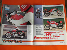 MOTOCICLISMO 1976 CON PROVA MV AUGUSTA AMERICA 750 S - MOTO D' EPOCA -