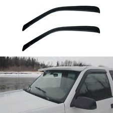 2pcs Outside Mount Smoke Front Doors Window Visors Fit 96-19 Savana/Express Van