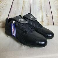 Reebok Authentic Men's Baseball Cleats Size 16 Low Metal Leather Black