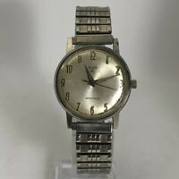 Read Vintage Elgin Mens Silver Tone Stainless Steel Wind Up Bracelet Watch