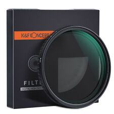 52/58/62/67/72/77/82mm K&F Concept ND Filter NO Spot X Black ND2 - ND32 Nanotec