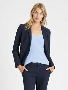 BANANA REPUBLIC Long & Lean-Fit Washable Wool- Blend Blazer NWT 14 TALL #427878