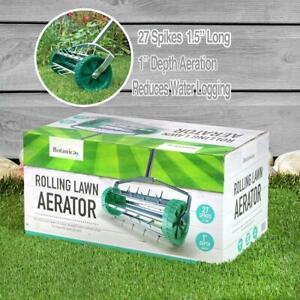 Botanica Rolling 27 Spike Lawn Aerator Loosens Soil & Reduces Water Logging (773