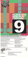 BLACKBOX NEW PLAY FESTIVAL 2006 ADVERTISING COLOUR POSTCARD