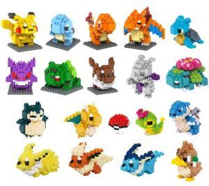 Pokemon Of Your Choice w Boxes BLOCK Mini Nano Building Blocks