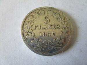 5 FRANCS ARGENT 1837 W.