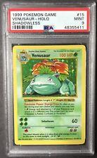 1999 Pokémon Base Set Shadowless Venusaur Holo PSA 9 MINT
