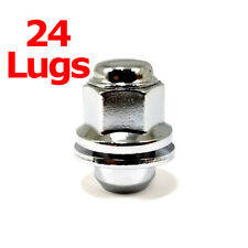 24x Excalibur 98-0002SH Lug Nuts 12x1.50 Chrome Mag w/Washers Short for Camry