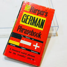 Vintage Harper's German Phrasebook for visitors to Germany