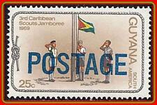 GUYANA 1982 SCOUTS JAMBOREE O/PRINT SC#453 MNH