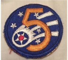 Vintage United States 5th Air Force WWII Korean War Military Patch Fifth 1942 US