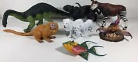 Lot Of 8 Wild Animal + Dinosaurs toy Figures Safari Ltd Larger Sizes