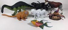 Lot Of 8 Wild Animal + Dinosaurs toy Figures Safari Ltd Larger Sizes
