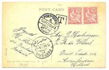 NEDERLAND S.M.N. 1921-4-15  PPC EGYPT  = S.S.BINTANG = FINE