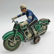 Tin Toy Friction Arnold Green Police motorcycle  TCO 598 -Restore/repair-
