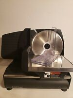 Chefman Die-Cast Electric Deli/Food Slicer Meat/Cheese/Bread RJ49-BLACK-DS