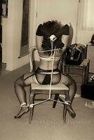 "1950s Woman Sitting On Chair Bondage Fetish BDSM Photo 4""x6"" Reprint B65"
