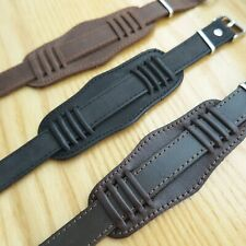 Genuine Russia USSR Leather Bund-Style Watch LEATHER MILITARY WATCH STRAP 18mm