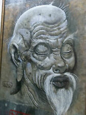 listed artist LEON D'USSEAU DUSSO ASIAN MASTER SIGNED OIL PAINTING