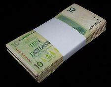 100 Zimbabwe 10 Dollar banknotes-full bundle