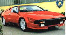1982 / 1983 / 1984 LAMBORGHINI JALPA SPEC SHEET / Brochure / Catalog